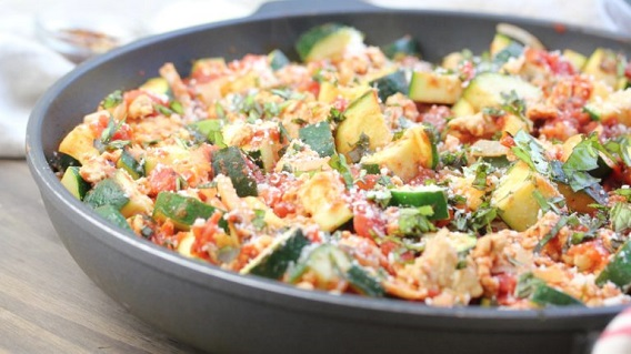low carb turkey and zucchini