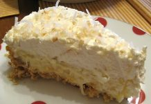 low carb coconut cream pie