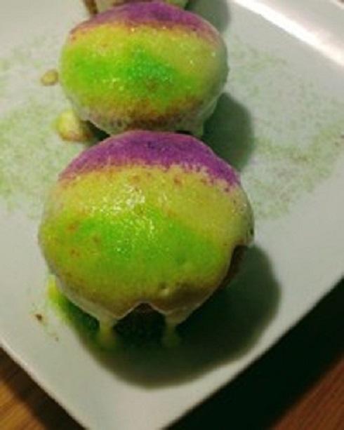 low carb king cake muffins