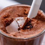 low carb chocolate avocado protein smoothie