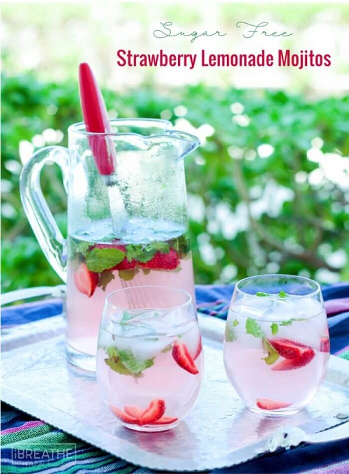 low carb strawberry mojitos