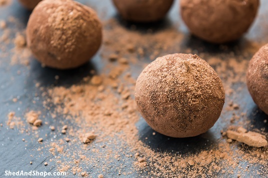 coffee flour cacao fat bombs