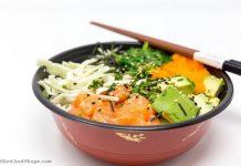 keto salmon poke bowl