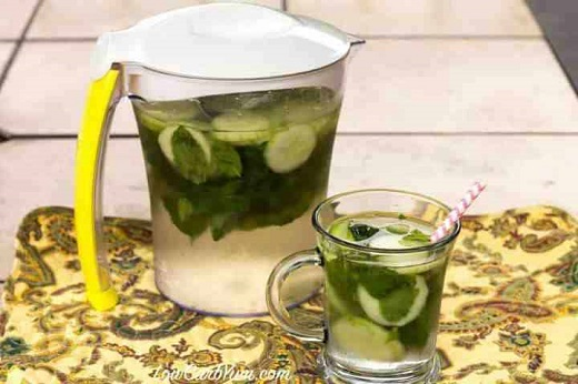 low carb cucumber mint infused water