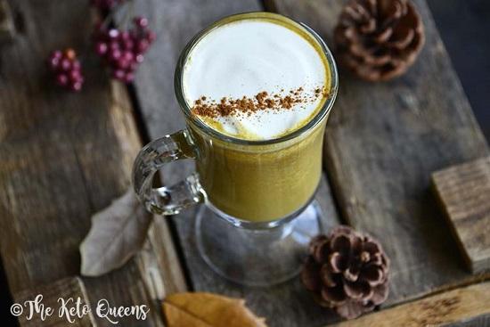 low carb pumpkin latte