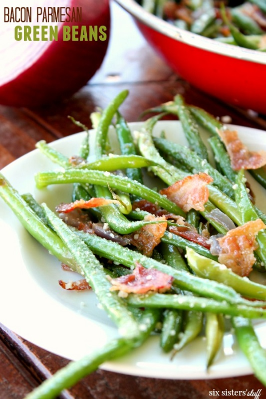 keto bacon parmesan green beans
