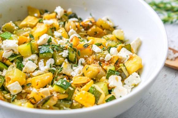 keto zucchini feta bowl recipe