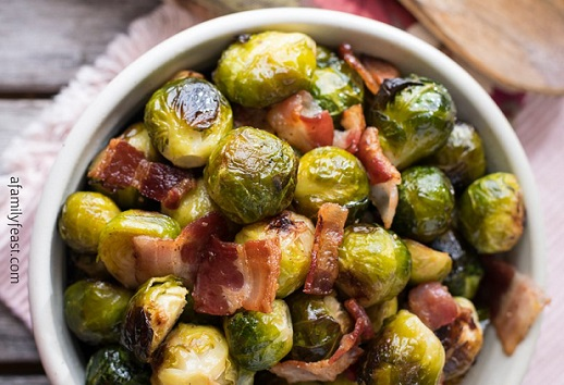 low carb roasted Brussels sprouts