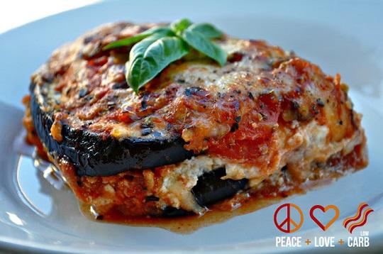 low carb eggplant lasagne