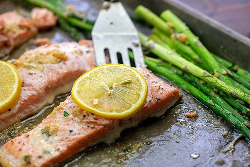 low carb salmon and asparagus