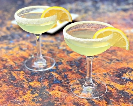 keto lemon drop martinis